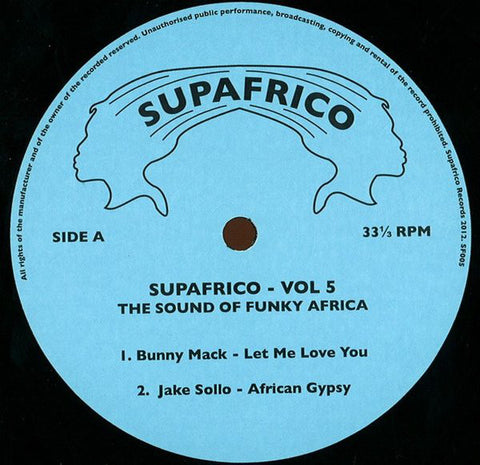 Various ‎– Supafrico - Vol V - The Sound Of Funky Africa - Supafrico ‎– SF005