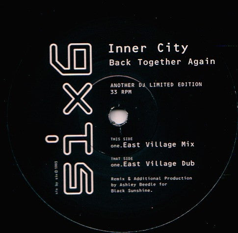 "Inner City - Back Together Again 12"" SIXT104DJ2 6 x 6 Records"