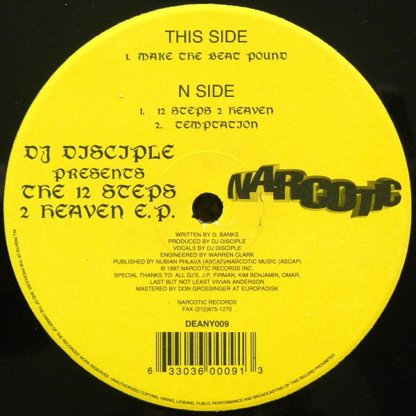 "DJ Disciple - The 12 Steps 2 Heaven E.P. 12"" DEANY009 Narcotic Records"