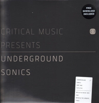 "Various - Underground Sonics Part 2 2x12"" CRITLP06PT2 Critical Recordings"