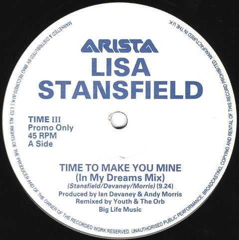 "Lisa Stansfield - Time To Make You Mine 12"" TIMEIII Arista"