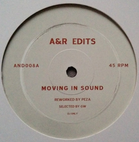 "Peza ‎– Moving In Sound / Days Dawning 12"" A&R Edits ‎– AND008"