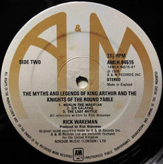 "Rick Wakeman - The Myths And Legends Of King Arthur And The Knights Of The Round Table 12"" A&M Records AMLH 64515"
