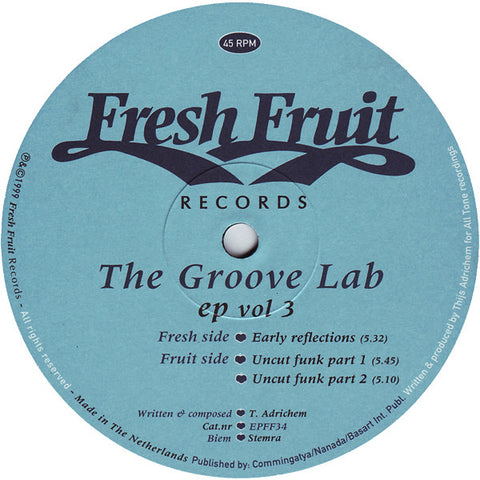 The Groove Lab- EP Volume 3 - Fresh Fruit Records ‎– EPFF34