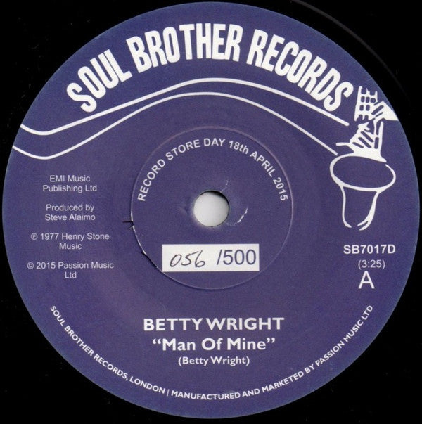 "Betty Wright - Man Of Mine / Smother Me With Your Love 7"" SB7017D Soul Brother Records RSD"