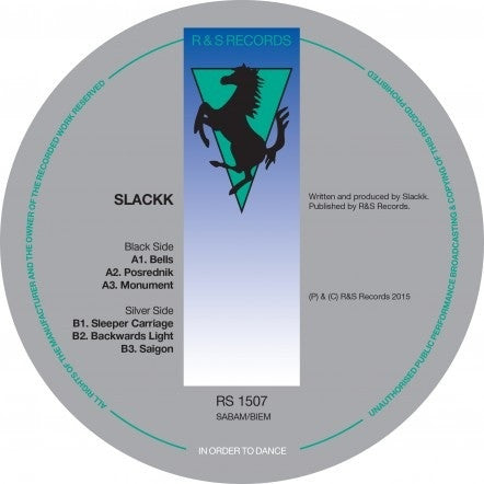 "Slackk ‎– Backwards Light EP 12"" R & S Records ‎– RS 1507"