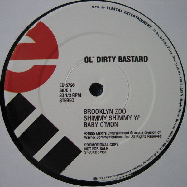 "Ol' Dirty Bastard - Return To The 36 Chambers The Dirty Version 2x12"" ED5796 Elektra"
