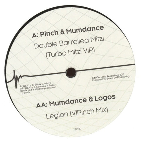 "Pinch, Mumdance, Logos - Double Barrelled Mitzi / Legion 12"" TEC087 Tectonic"