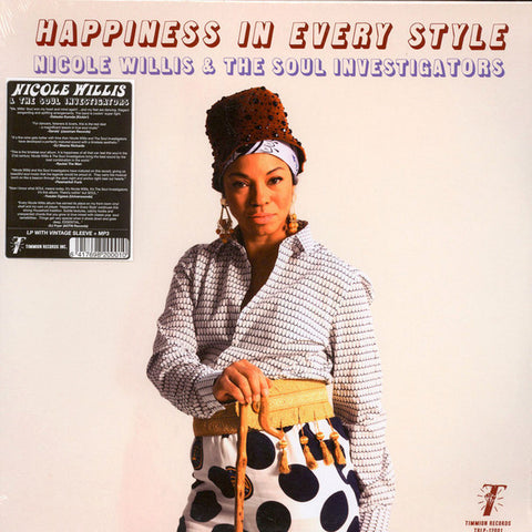 Nicole Willis & The Soul Investigators ‎– Happiness In Every Style - Timmion Records ‎– TRLP-12001