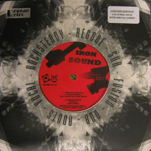 "Alien Dread ‎– Abyssinia / Dreadland 7"" Iron Sound - IRONEP 01-07"
