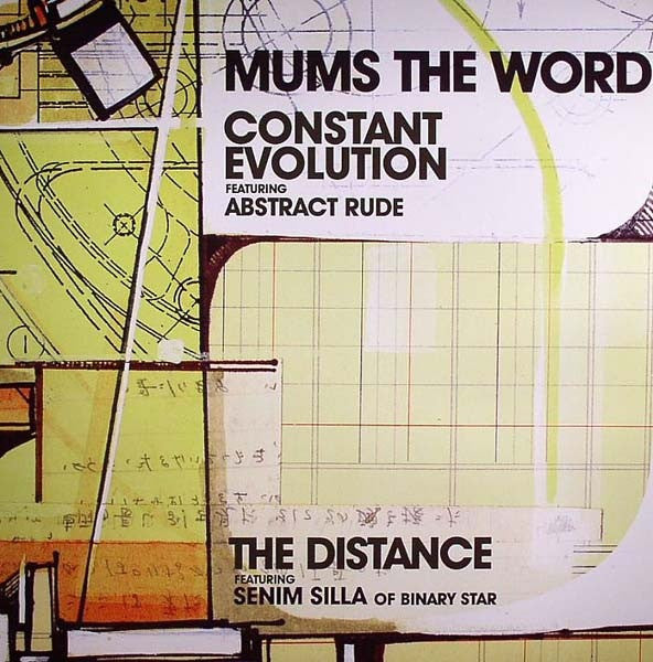 "Mums The Word - Constant Evolution / The Distance 12"" UPA30831 Up Above Records"