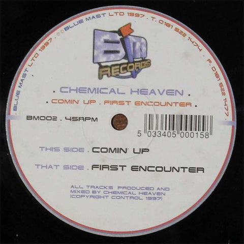 "Chemical Heaven - Comin' Up 12"" BM002 Blue Mast"