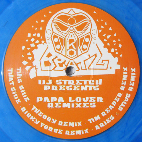 DJ Stretch ‎– DJ Stretch Presents Papa Lover Remixes - AKO Beatz ‎– AKO005 (BLUE)