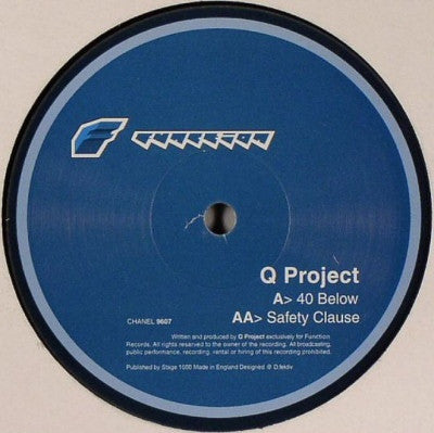 "Q Project - 40 Below / Safety Clause 12"" Function CHANEL9607"