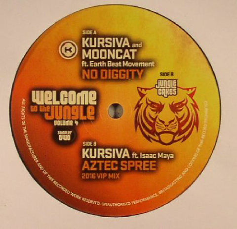 Kursiva And Mooncat / Kursiva ‎– Welcome To The Jungle Volume 4 - Jungle Cakes ‎– JC052