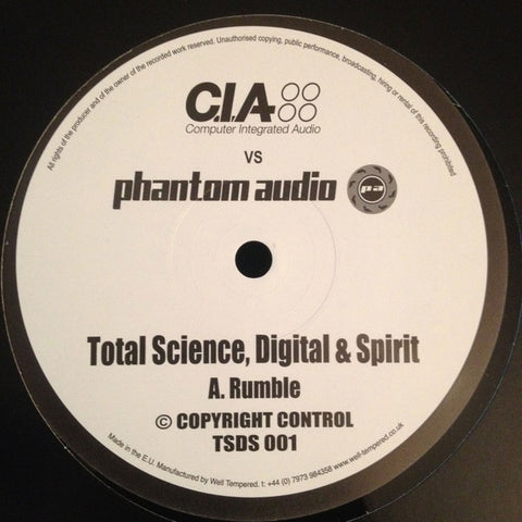 Total Science, Digital & Spirit ‎– Rumble / Overlord - CIA, Phantom Audio ‎– TSDS 001