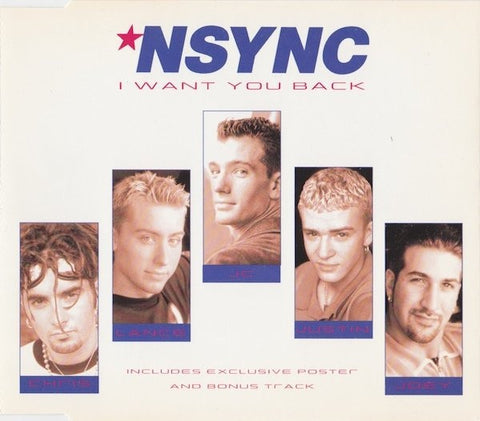 *NSYNC - I Want You Back CD, Single, CD1 Northwestside Records 74321 64698 2