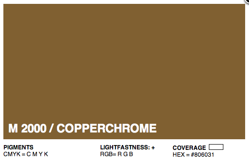 M2000 - Montana Cans Gold Acrylic Spray - Metallic Copperchrome 400ML