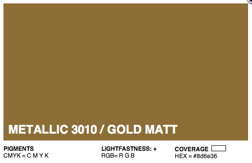 M3010 Montana Cans Gold Acrylic Spray Metallic Gold