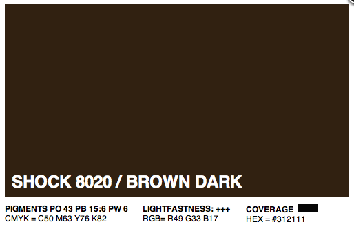 S8020 - Montana Cans Gold Acrylic Spray - Shock Brown Dark 400ML