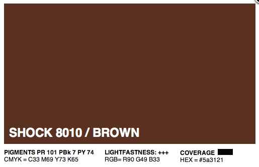 S8010 - Montana Cans Gold Acrylic Spray - Shock Brown 400ML