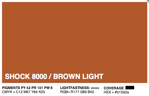 S8000 - Montana Cans Gold Acrylic Spray - Shock Brown Light 400ML