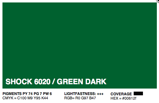 S6020 - Montana Cans Gold Acrylic Spray - Shock Green Dark 400ML