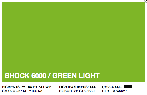 S6000 - Montana Cans Gold Acrylic Spray - Shock Green Light 400ML