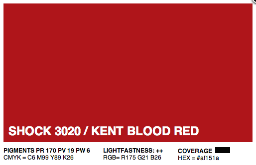 S3020 - Montana Cans Gold Acrylic Spray - Shock Kent Blood Red Light 400ML