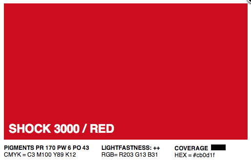 S3000 - Montana Cans Gold Acrylic Spray - Shock Red Light 400ML