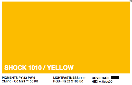 S1010 - Montana Cans Gold Acrylic Spray - Shock Yellow 400ML