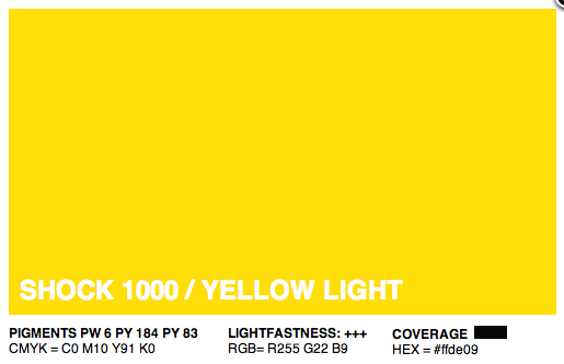 S1000 - Montana Cans Gold Acrylic Spray - Shock Yellow Light 400ML