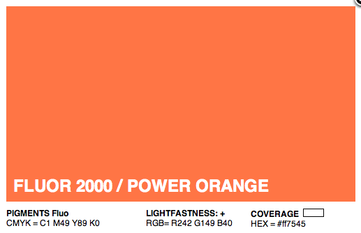 F2000 - Montana Cans Gold Acrylic Spray - Florescent Power Orange 400ML
