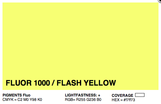 F1000 - Montana Cans Gold Acrylic Spray - Florescent Flash Yellow 400ML