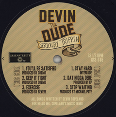 "Devin The Dude ‎– Seriously Trippin 12"" Green Streets Entertainment ‎– GSE-745"