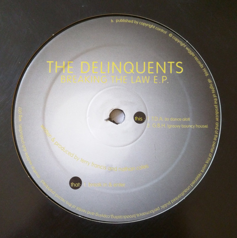 The Delinquents ‎– Breaking The Law EP - Wiggle ‎– WIG007