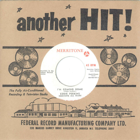 Eddie Perkins With Meritone All Stars - I'm Coming Home - Merritone, Dub Store Records ‎– DSR-FED7-001