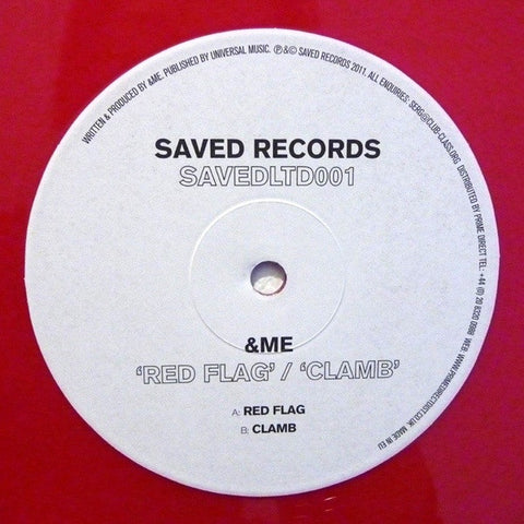 "&ME - Red Flag / Clamb 12"", Ltd, EP, Red Saved Records SAVEDLTD001"