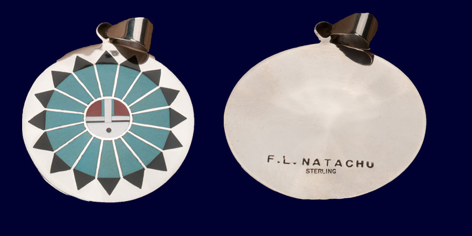 Multi-Stone Inlay Pendant by F. L. Natachu