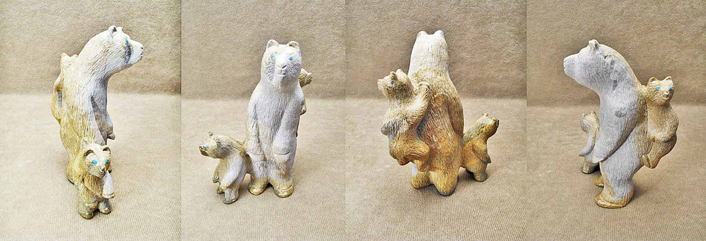Zuni Rock (travertine) Bear, Large by Vince Chavez