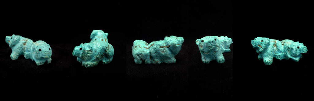 Turquoise* Bear, Double by Chris Peina