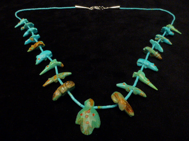 Turquoise* Eagle Pendant Single Strand by Lena Boone
