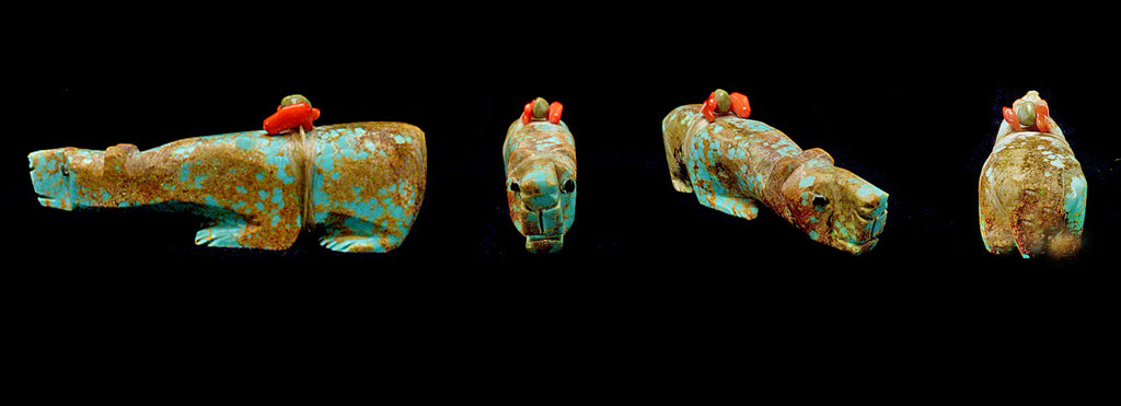Number Eight Mine Turquoise Medicine Bear by Michael Laweka