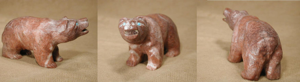 Red Marble Bear by Herbert Him
