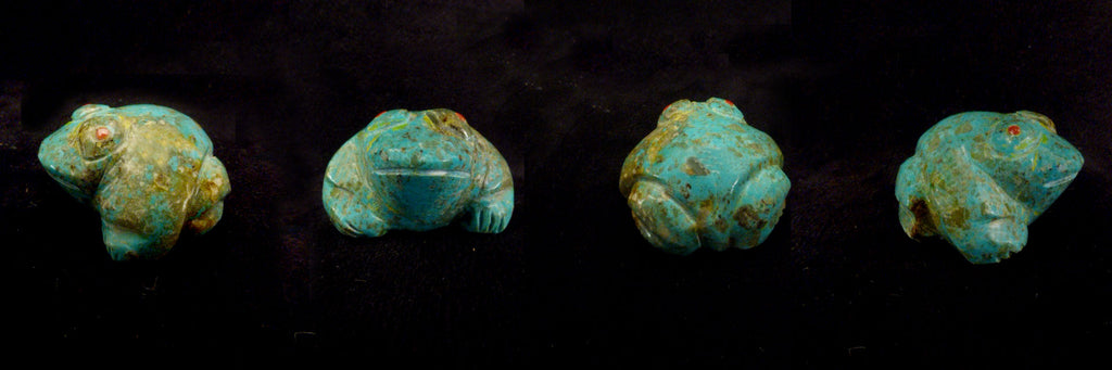 Turquoise* Frog by Leland Boone and Daphne Quam