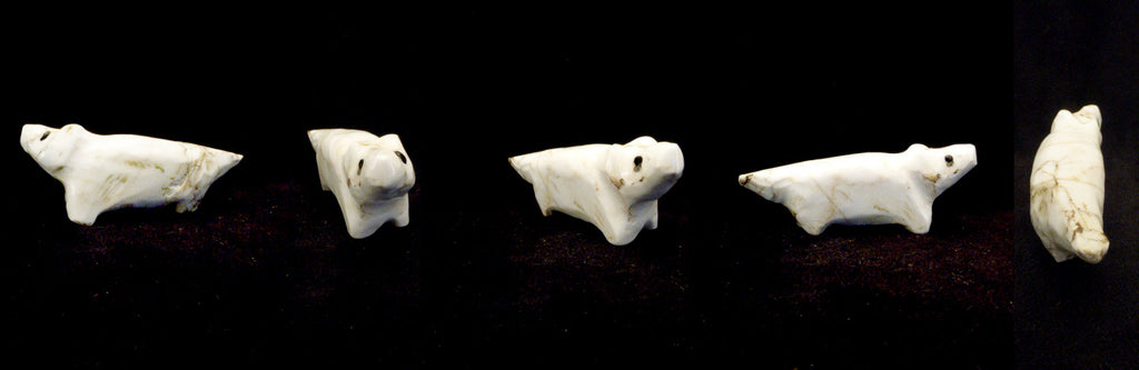 Howlite Coyote by Sarah Leekya, Deceased