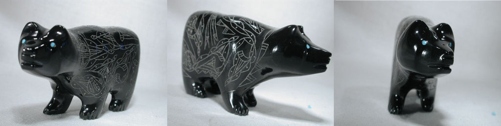 Black Marble Bear by Curtis Garcia