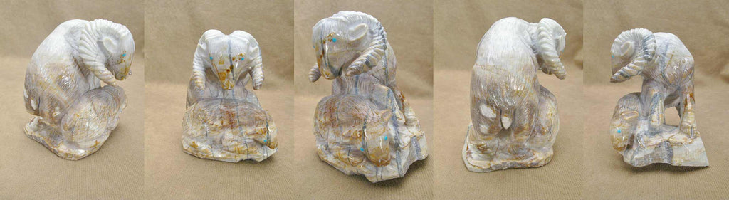 Picasso Marble Ram and Ewe  by Derrick Kaamasee