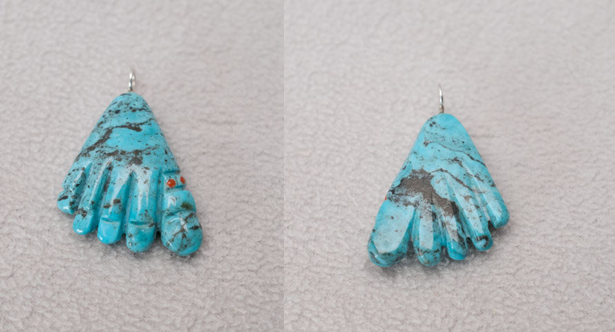 Turquoise* Hand Pendant by Dinah Gasper