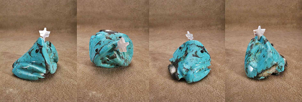 Turquoise* Frog by Burt Awelagte